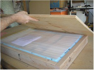 projection screens shipping crate