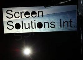Rear Projection Screen with Custom Cutout Logo