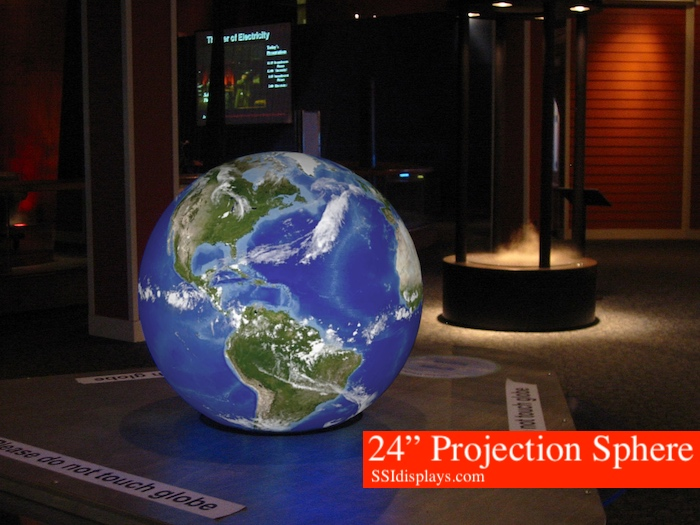 """24"""" Projection Sphere Globe - Spherical Projection System Museum of Science, Boston MA"""