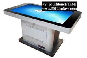 42 inch multi touch table flat using multitouch overlay