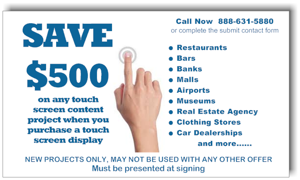 Touch Screen Software Discount