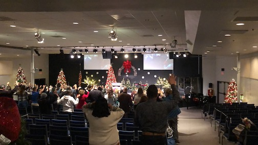 Church Projection Screens and lighting