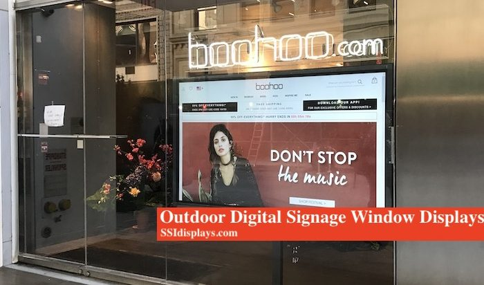 Digital Window Signage Display Touch Screen