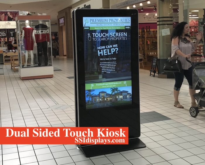 Dual Sided Kiosk in Mall