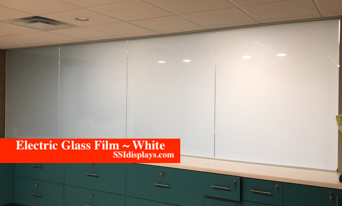 Electric Glass Adhesive Film White
