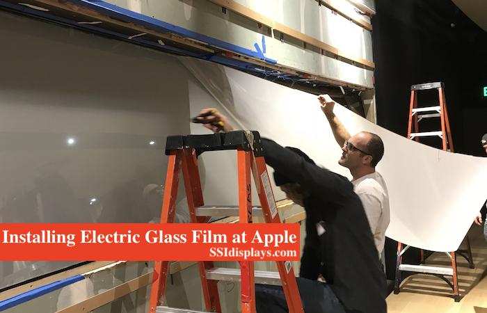 Electric Glass Films Apple Steve Jobs Theater CA