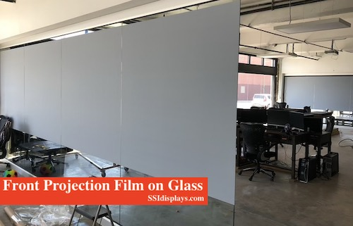 Front Projection Film on Glass Wall