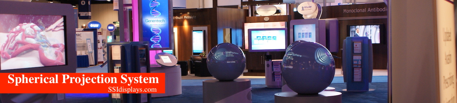 """24"""" Spherical Projection System - Genentech Tradeshow"""