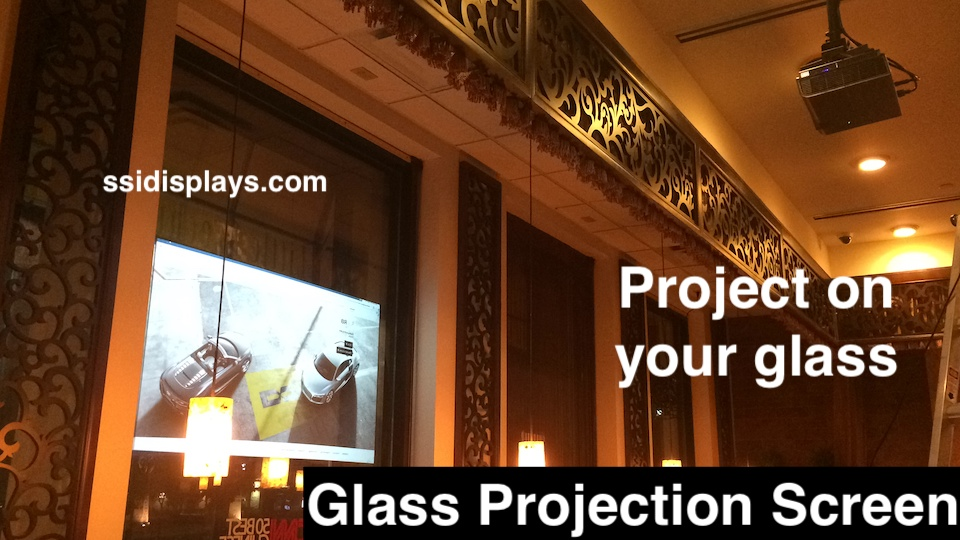 Glass Projection Screen Restaurants
