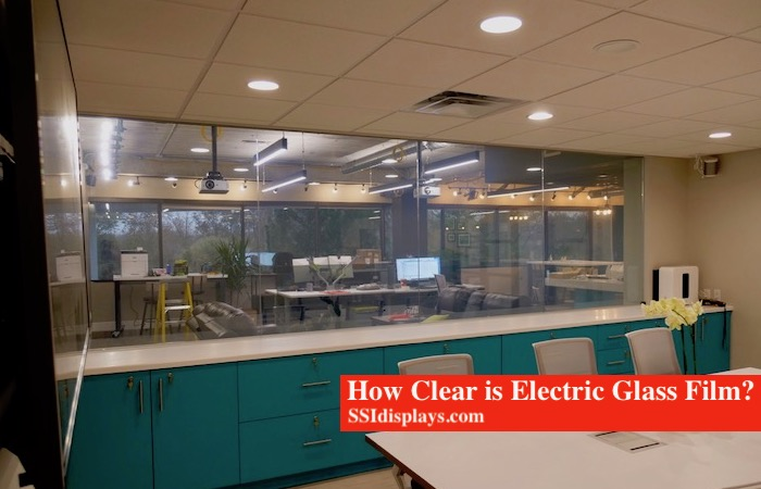 How clear is electric glass film