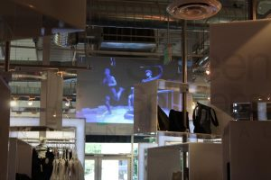 Clothing and Apparel Store Large Projection Display