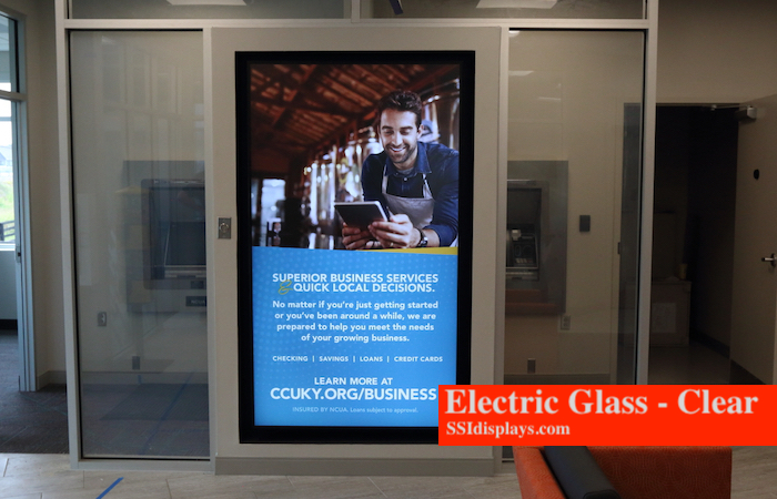 Electric Glass Clear IN USE GLASS