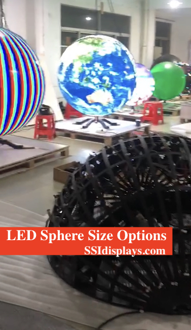 LED Sphere Sizes