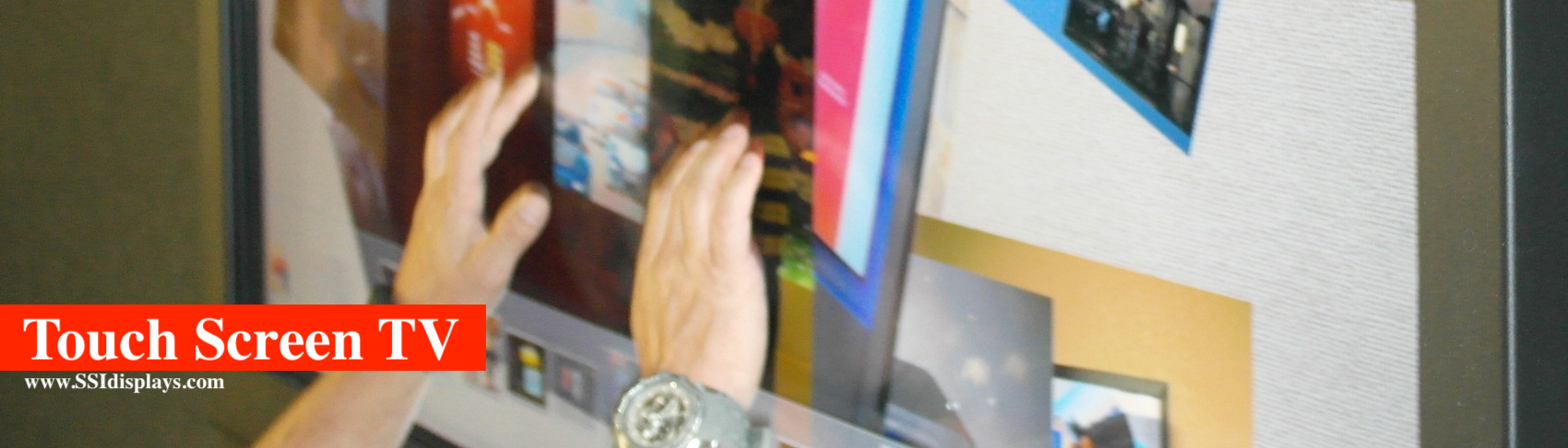Large Format Multitouch Screen TV Display