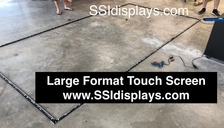 Large Format Multi Touch Screen Frame - 15x8