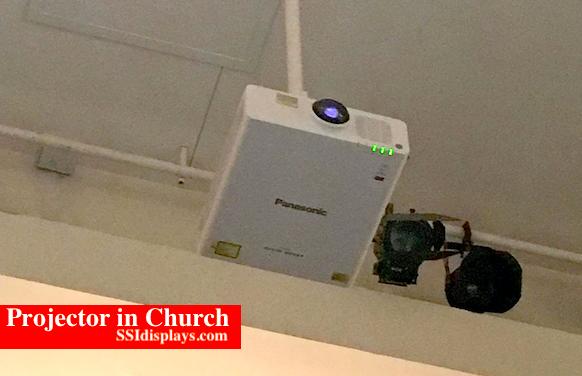 Loud Projector in Church