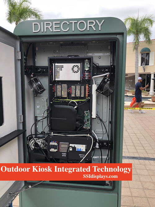 Outdoor Touch Screen - Inside View
