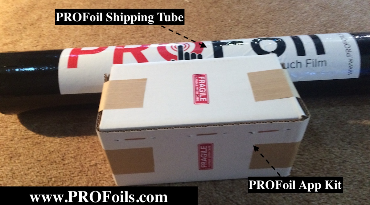ProFoil Shipping Tube - Thru Glass Touch Film