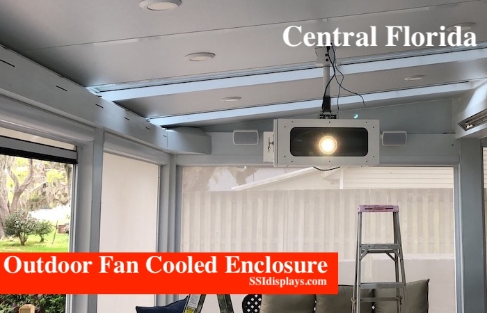 Projector Outdoor Enclosure Fan Cooled - Covered Patio Outside