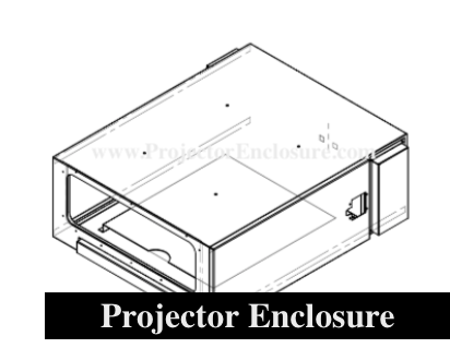 Projector Shield Enclosure System Technical Drawing