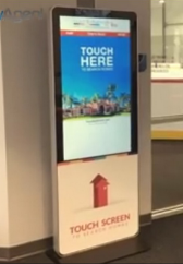 Free-Standing Kiosk Touch Display