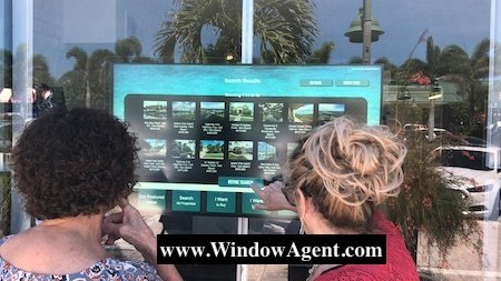 Sea Turtle Real Estate Landscape In-Window Touch Display