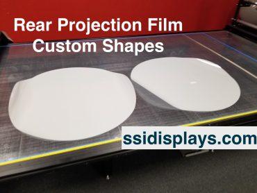 Rear Projection Film Custom Shapes