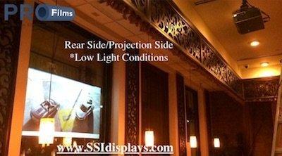 Rear Projection Film - Rear Side