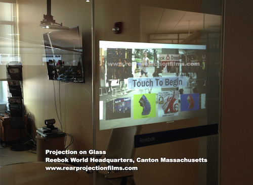 Rear Projection Film on Glass Example SSI