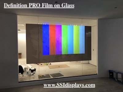 Rear Projection Film on Glass