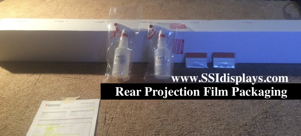 Rear Projection Films Packaging