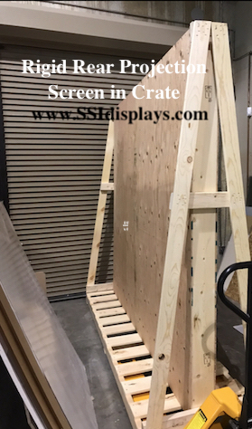 Rigid Rear Projection Screen in Crates SSI