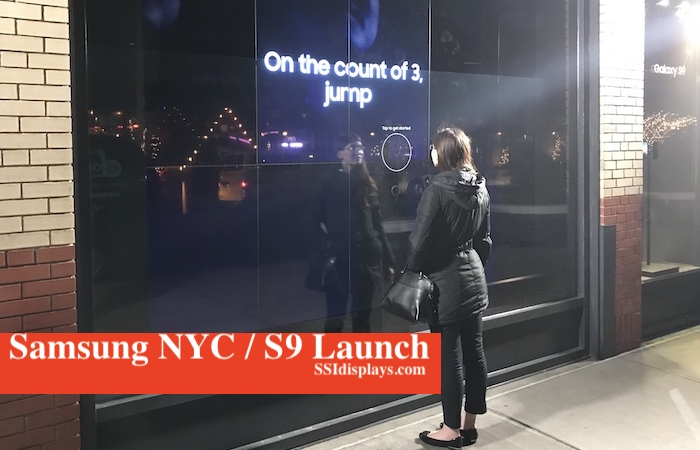 Samsung NYC Touch Window