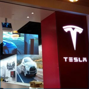 Tesla-Definition-Storefront Rear Projection in San Jose CA