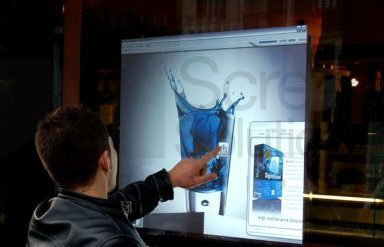 Interactive Touch Screen on Glass