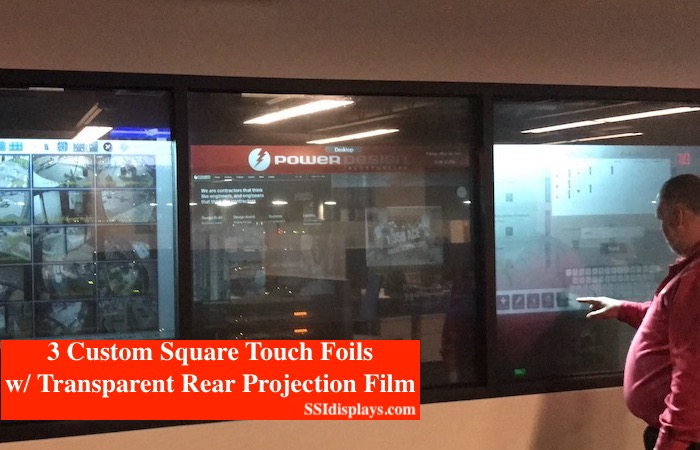 Transparent Rear Projection with Touch Foil