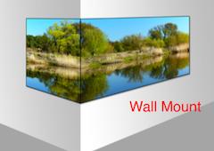 Wall Mount Corner LED Video Wall