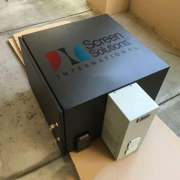 Black Air Conditioned Projector Enclosure with Locking Door