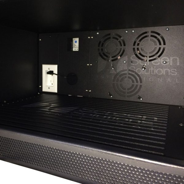 Inside of Fan-Cooled Projector Enclosures with Door Lock and Key