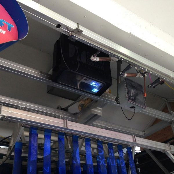 Cieling-Mounted Black Fan Cooled Projector Enclosure