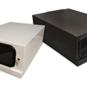 Black and White Fan Cooled enclosure for Projector