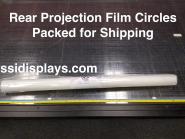 Rear Projection Film Packed for Shipping