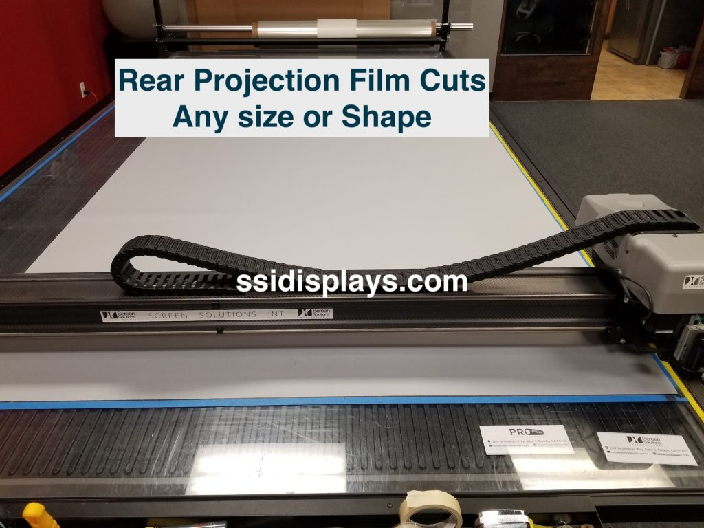 CNC Rear Projection Film Cutting