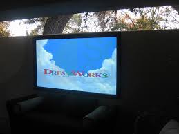 Reflection Front Projection Screen Outdoors