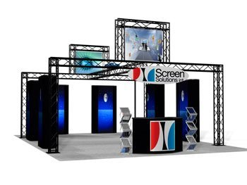 Screen solutions custom tradeshow booth design