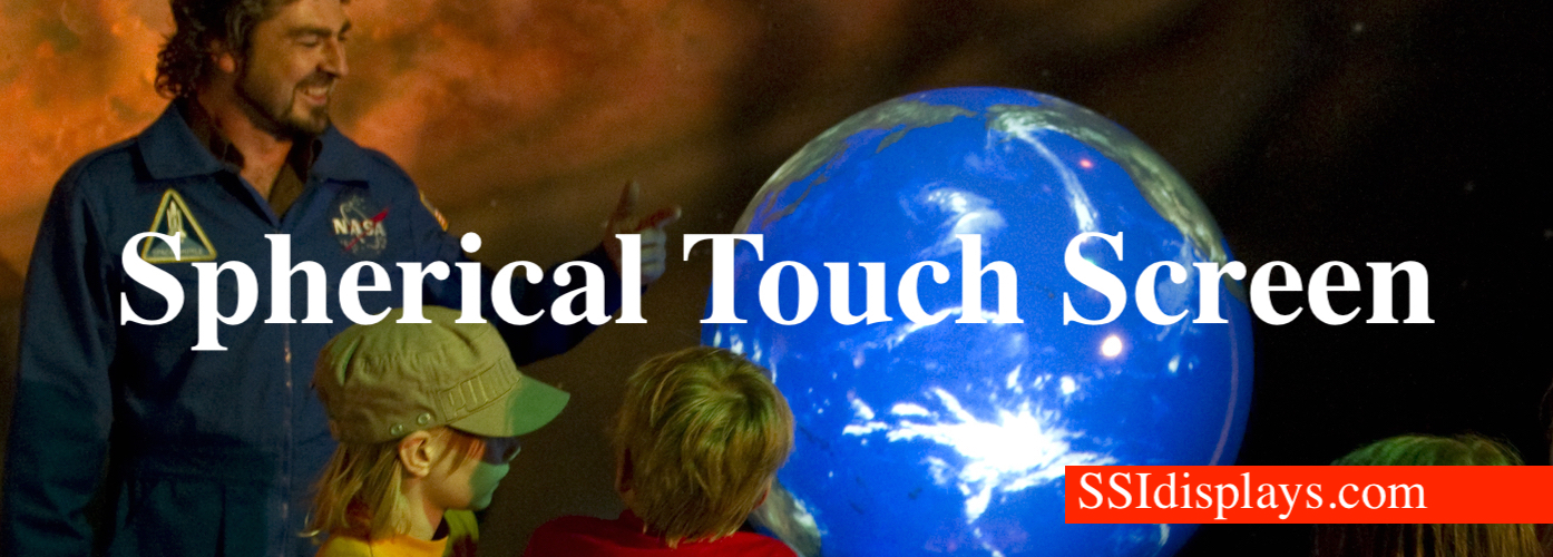 spherical touch screen - projection sphere display