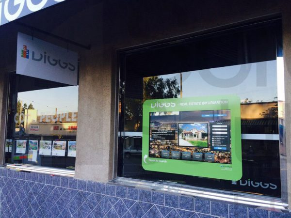 Real Estate Touch Screen Window Display