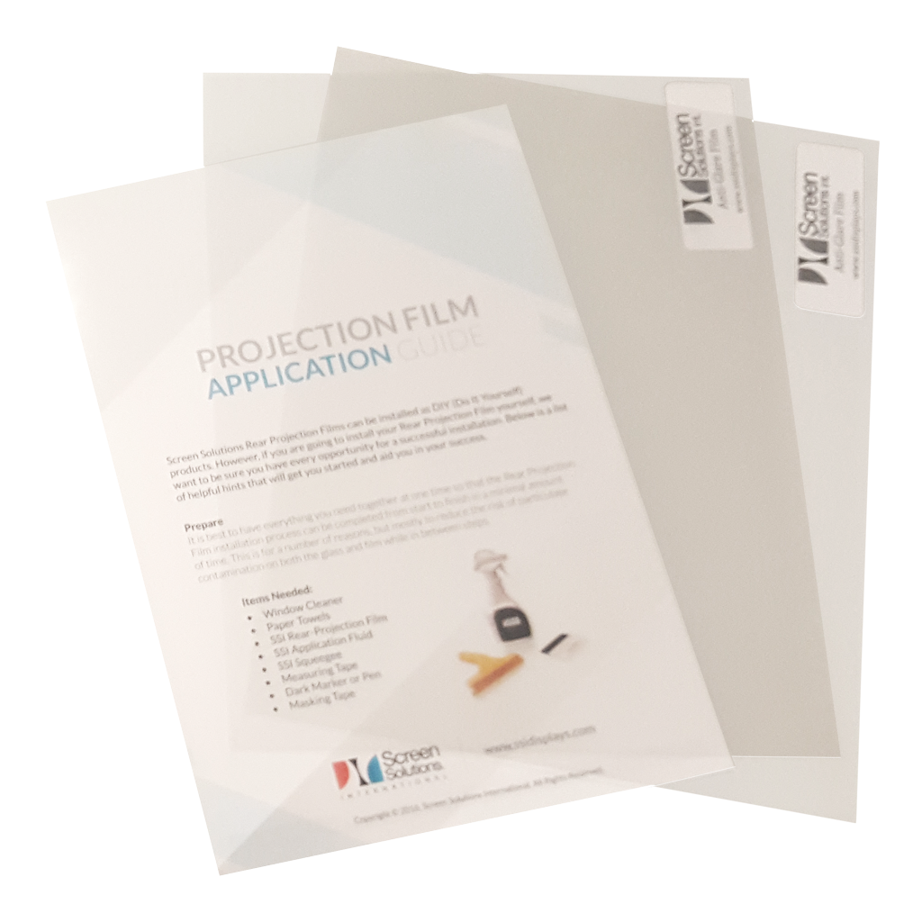 Antiglare Film Samples and Projection Film Application Guide