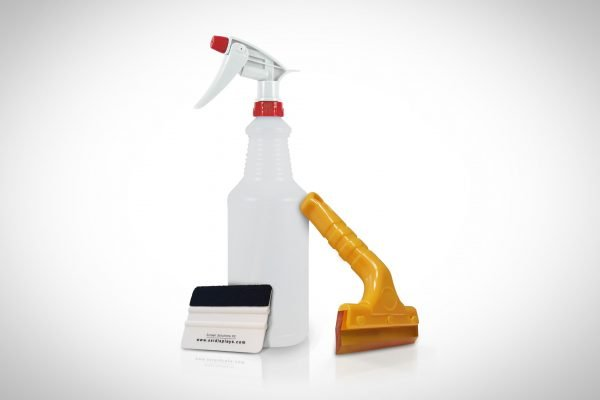 Application Kit with Squeegee and Application Fluid