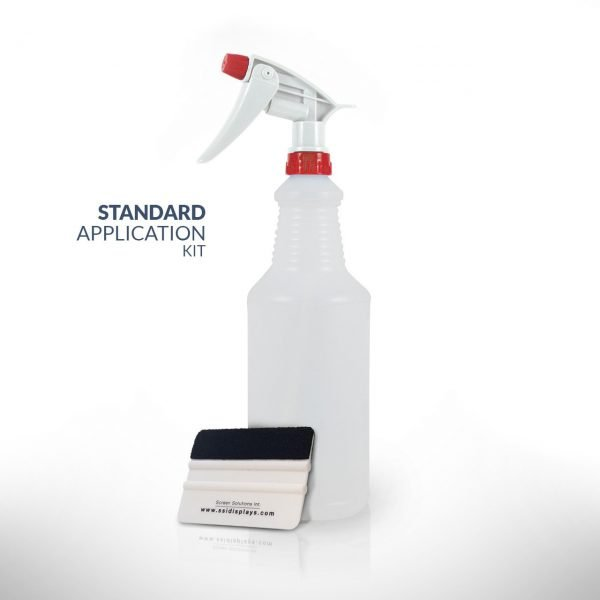Standard Application Kit with Application Fluid and Standard Squeegee